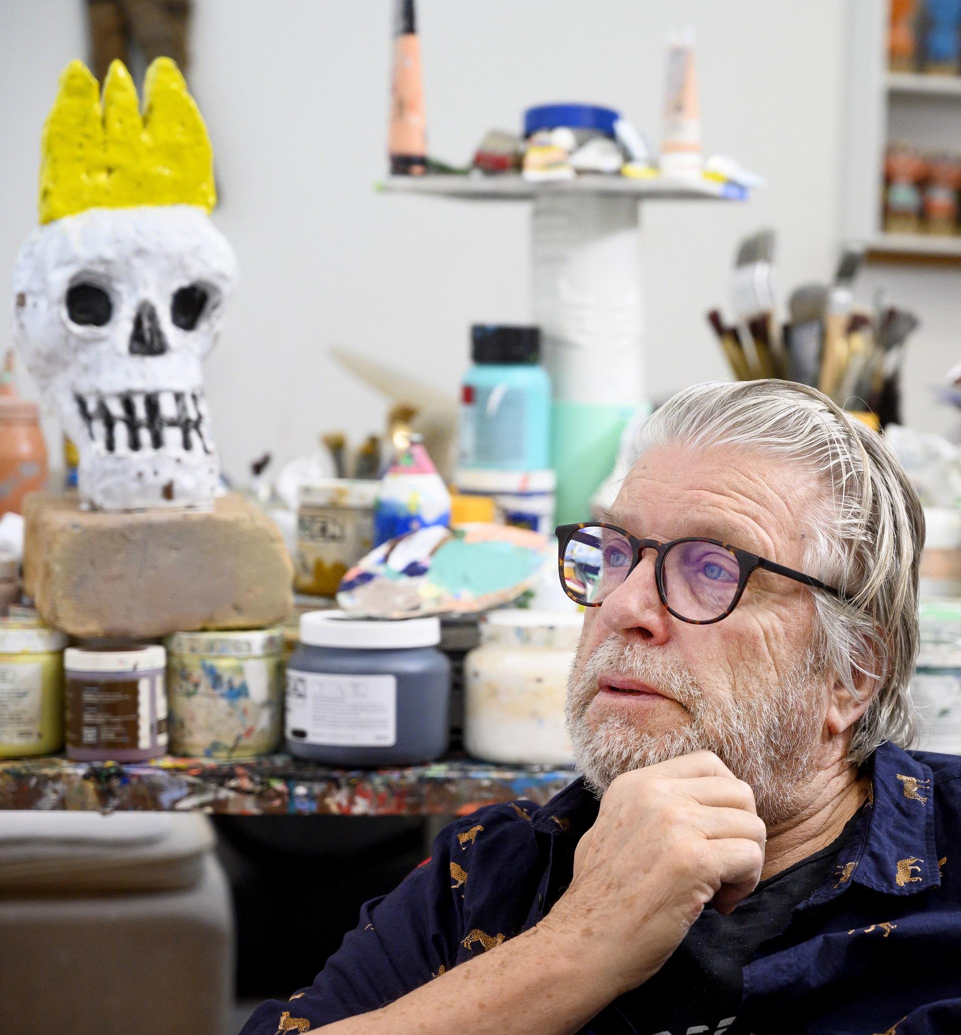 Den danske kunstmaler, grafiker, musiker og skuespiller Leif Sylvester Pedersen